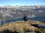 Wanderung Flumserberg Tannenbodenalp - Gross Güslen (1833m) - Murg - 27.10.2009 und Gross Güslen vom 29.10.2009